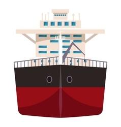 Ship with oil icon cartoon style vector