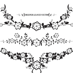silhouettes leaf and vine plant vector image vector image