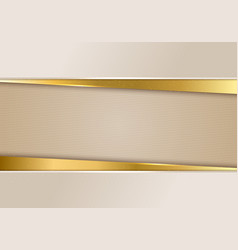 3d abstract beige and shiny gold color stripes vector