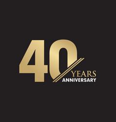 40th year anniversary emblem logo design template vector