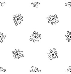 Amoeba pattern seamless black vector