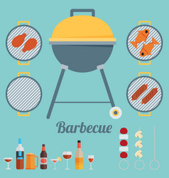 barbecue flat style design - vector image