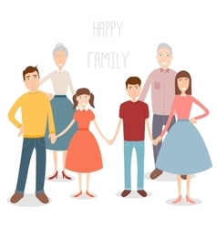 Big family with children parents and grandparents vector