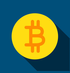 bit coin flat icon vector image