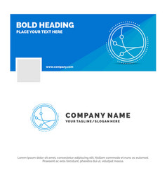 blue business logo template for worldwide vector image