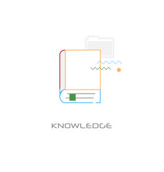 business education learning knowledge concept line vector image