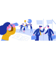 Business intelligence creative idea thievery vector