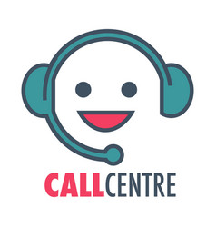call center customer support service icon vector image