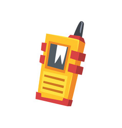 cartoon miner s walkie talkie with yellow body vector image