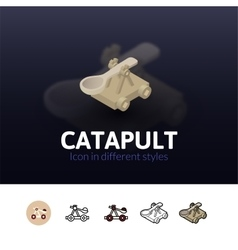 Catapult icon in different style vector image