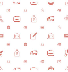 Concept icons pattern seamless white background vector