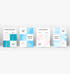 cover page design template business brochure vector image