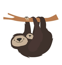 Cute sloth family vector image