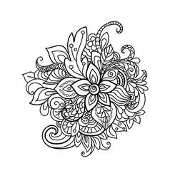design element Zentangle floral pattern vector image