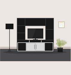 design of modern furniture for living room tv vector image