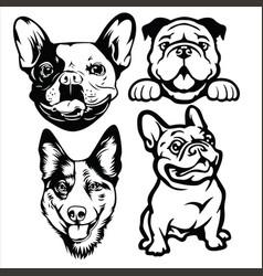 Dog head logo mascot annimal drawing vector