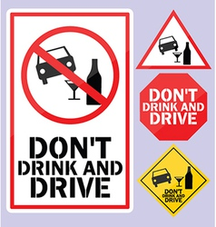 Dont drink and drive sign vector