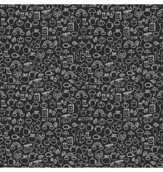 Doodles seamless pattern set vector image