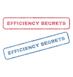 Efficiency secrets textile stamps vector