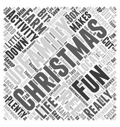 Family fun christmas activities word cloud concept vector
