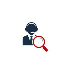 find call center logo icon design vector image