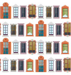 Flat colorful windows seamless pattern vector