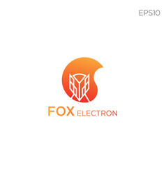 fox line icon or logo business vector image
