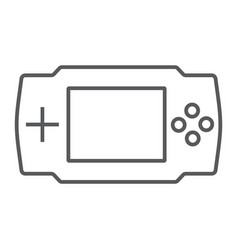 game console thin line icon electronic and device vector image