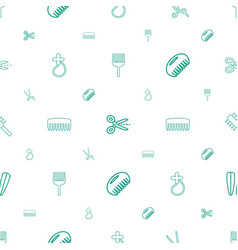 hairdressing icons pattern seamless white vector image