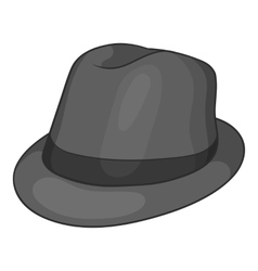 Hat icon black monochrome style vector
