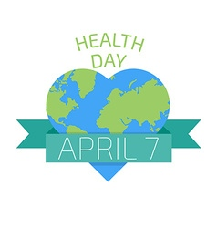 Health day poster Flat style vector image