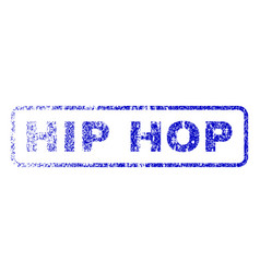 Hip hop rubber stamp vector