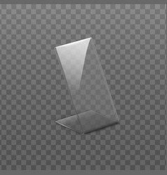 Holder for cards or table menu realistic vector