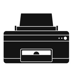 home printer icon simple style vector image