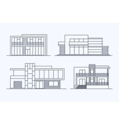 Houses linear 7 vector