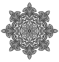 Indian ethnic round ornament Mandala Hand drawn vector