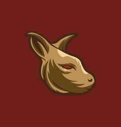 Kangaroo head mascot vector