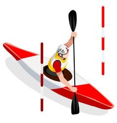 Kayak Slalom 2016 Sports Isometric 3D vector