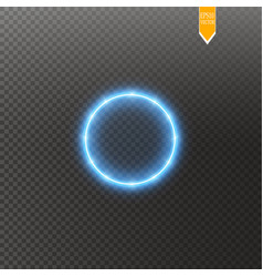 Light ring round shiny frame with lights vector