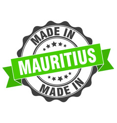 Made in mauritius round seal vector