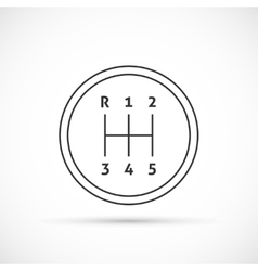 Manual transmission outline icon vector image