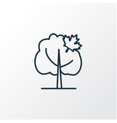 maple tree icon line symbol premium quality vector image