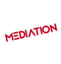 Mediation rubber stamp vector