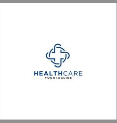 medical center logo template design vector image
