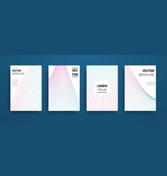 modern abstract geometric linear grid covers set vector image