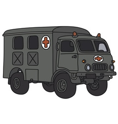 Old military ambulance vector image