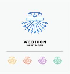 Optimization site site structure web 5 color line vector