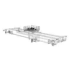 Overhead crane sketch vector