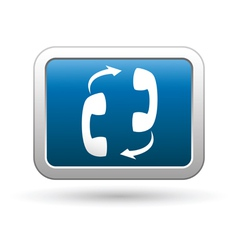 Phone connection icon on vector