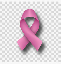 pink ribbon flow breast cancer awareness symbol vector image